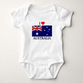 Body Para Bebê Eu amo Austrália