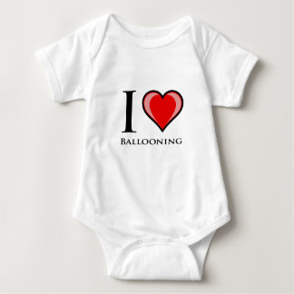 Body Para Bebê Eu amo Ballooning