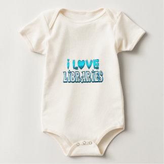 Body Para Bebê Eu amo bibliotecas