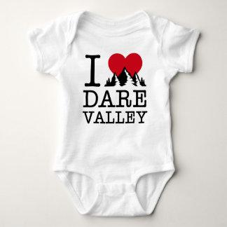 """Body Para Bebê """"Eu amo Bodysuit do bebê do vale do desafio"""""""