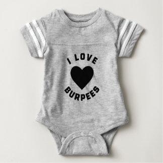 Body Para Bebê Eu amo Burpees