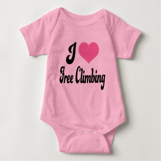 Body Para Bebê Eu amo (coração) a escalada livre