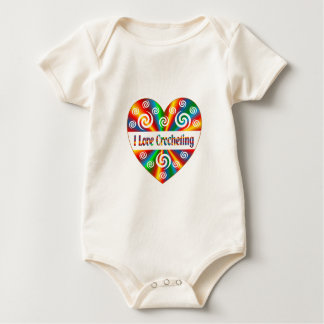 Body Para Bebê Eu amo Crocheting