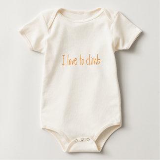 Body Para Bebê Eu amo escalar