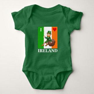 Body Para Bebê Eu amo Ireland