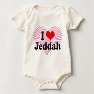 Body Para Bebê Eu amo Jeddah, Arábia Saudita
