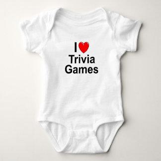 Body Para Bebê Eu amo jogos da trivialidade do coração