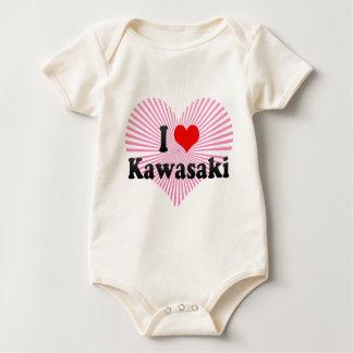 Body Para Bebê Eu amo Kawasaki, Japão