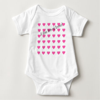 Body Para Bebê Eu amo lotes do t-shirt do bebê dos beijos