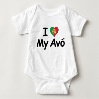Body Para Bebê Eu amo meu Avo (a avó)
