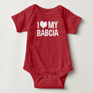 Body Para Bebê Eu amo meu Babcia