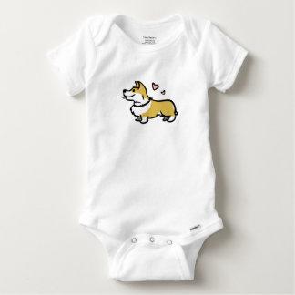 Body Para Bebê Eu amo meu bebê do corgi