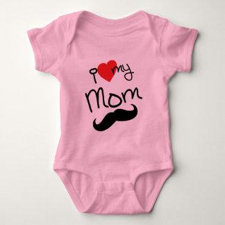 Body Para Bebê Eu amo meu Bodysuit da mamã