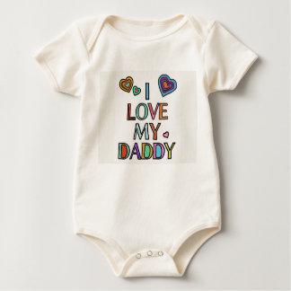 Body Para Bebê Eu amo meu Bodysuit do bebê do pai orgânico