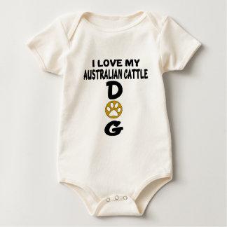 Body Para Bebê Eu amo meu design australiano do cão do gado