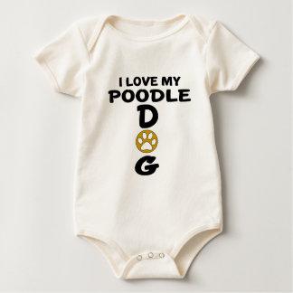 Body Para Bebê Eu amo meu design do cão de caniche
