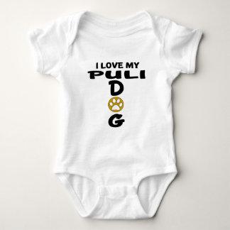 Body Para Bebê Eu amo meu design do cão de Puli