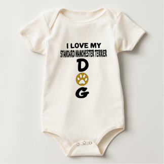 Body Para Bebê Eu amo meu design padrão do cão de Manchester
