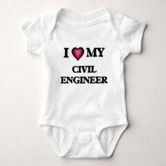 Body Para Bebê Eu amo meu engenheiro civil