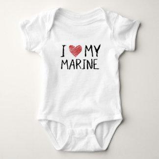 Body Para Bebê Eu amo meu fuzileiro naval