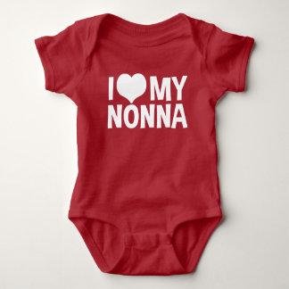 Body Para Bebê Eu amo meu Nonna