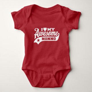 Body Para Bebê Eu amo meu Nonno impressionante
