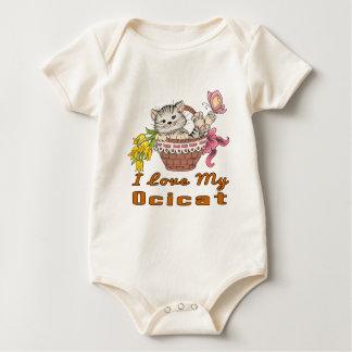 Body Para Bebê Eu amo meu Ocicat