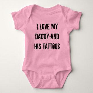 Body Para Bebê Eu amo meu pai e seus tatuagens