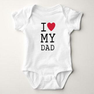 Body Para Bebê Eu amo meu pai por mini irmãos
