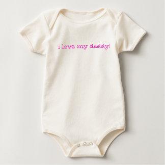 Body Para Bebê Eu amo meu pai! (rosa)