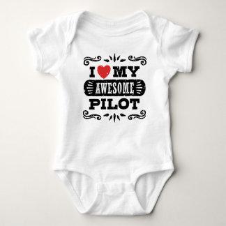 Body Para Bebê Eu amo meu piloto impressionante