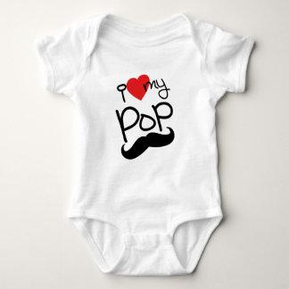 Body Para Bebê Eu amo meu pop