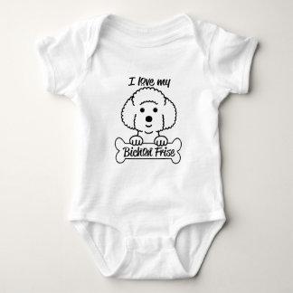Body Para Bebê Eu amo meu roupa ocasional de Bichon Frise