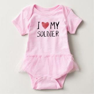 Body Para Bebê Eu amo meu soldado