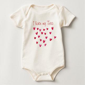 Body Para Bebê Eu amo meu Teta
