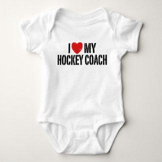 Body Para Bebê Eu amo meu treinador de hóquei