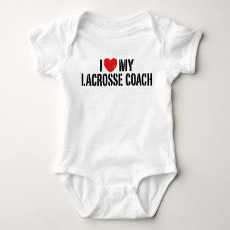 Body Para Bebê Eu amo meu treinador do Lacrosse