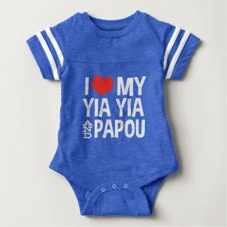 Body Para Bebê Eu amo meu Yia Yia e Papou