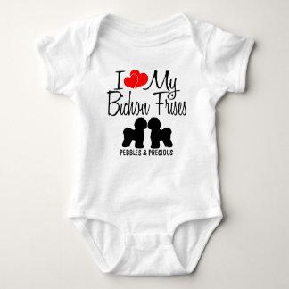 Body Para Bebê Eu amo meus DOIS Bichon Frises