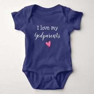 Body Para Bebê eu amo meus godparents