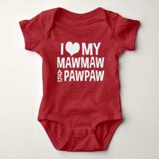 Body Para Bebê Eu amo meus MawMaw e PawPaw
