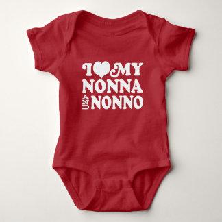 Body Para Bebê Eu amo meus Nonna e Nonno