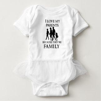 Body Para Bebê Eu amo meus pais porque são minha família