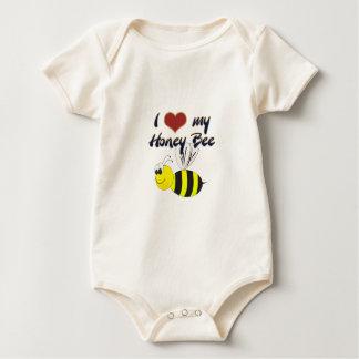 Body Para Bebê Eu amo meus roupa e t-shirt da abelha do mel