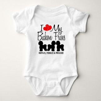 Body Para Bebê Eu amo meus TRÊS Bichon Frises