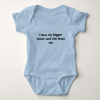 Body Para Bebê Eu amo minha irmã mais grande e ama-me