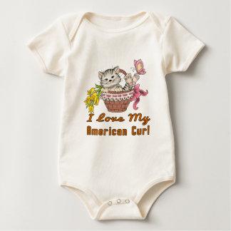 Body Para Bebê Eu amo minha onda americana