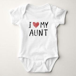 Body Para Bebê Eu amo minha tia