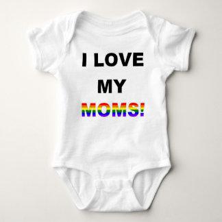 Body Para Bebê Eu amo minhas mães