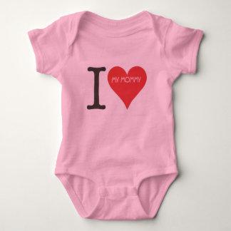 Body Para Bebê EU AMO MINHAS MAMÃES - Bodysuit do jérsei do bebê